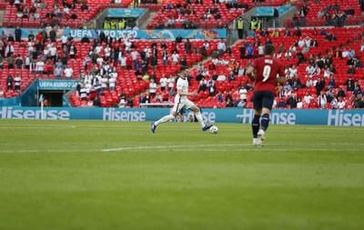 Hisense aparece en la Eurocopa2020 (PRNewsfoto/Hisense)