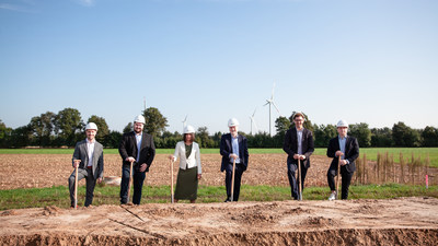 Enapter team breaks the ground for the Enapter Campus