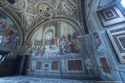 Durante el verano, las temperaturas en Roma puede llegar a alcanzar los 40 ºC, lo que hace que el aire acondicionado de Carrier sea bienvenido a las Estancias de Rafael. © Governatorato S.C.V. - Direzione dei Musei